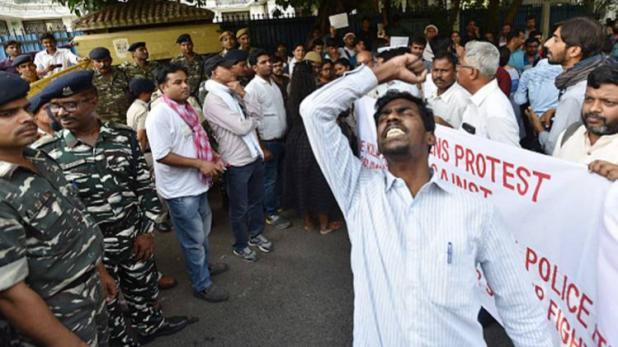 तूतीकोरिन में पुलिसिया फायरिंग के खिलाफ दिल्ली में प्रदर्शन